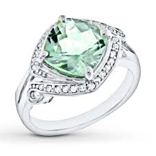 green gemstones rings images Green quartz ring lab created sapphires sterling silver jpg