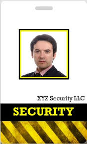 the easy way to make security guard id cards id card templates