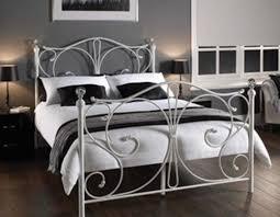 White Metal Kingsize Bed Frame Classical King Single King Size White Metal
