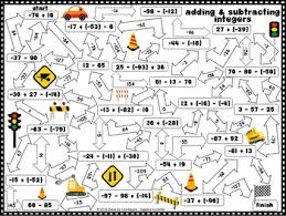 freebie adding and subtracting integers maze by algebra accents