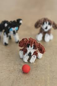 rainbow loom dogs beagle and husky