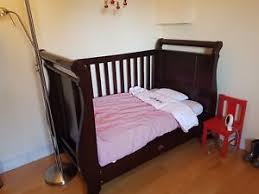 Boori Sleigh Cot Bed Boori Mahogany Sleigh Cot Bed And Matching Changing Table Ebay
