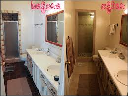 Home Decor Before And After Photos Fascinating Remodeled Bathrooms Before And After Cute Small