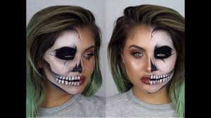 Half Skull Halloween Makeup by Half Skull Half Glam Ad Youtube