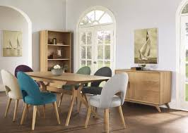scandi 7 piece dining suite with stockholm upholstered chairs