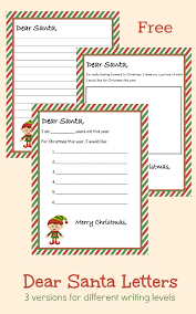 free printable writing paper to santa free printable dear santa letter 3 different versions