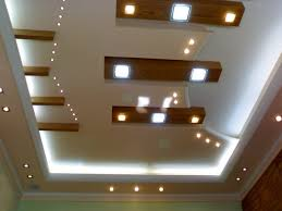 Decorative Ceilings Layers Of Lights On Ceiling Wood Beams With Inset Lights 15