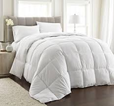 What Is The Best Material For Comforters Amazon Com Chezmoi Collection White Goose Down Alternative