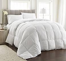Luxury Down Comforter Amazon Com Chezmoi Collection White Goose Down Alternative