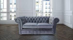 grey u0026 blue velvet chesterfield sofa designersofas4u