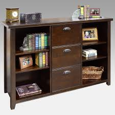 Cherry Wood Shelves by Kathy Ireland Home By Martin Tribeca Loft Bookcase File Cabinet