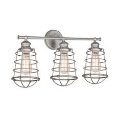 Bathroom Fixture Finishes Design House Ajax Collection 3 Light Galvanized Indoor Vanity