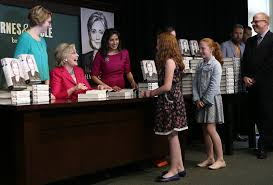 Barnes And Noble Book Signings Nyc Fans Wait Hours To See Hillary Clinton At Book Signing The New