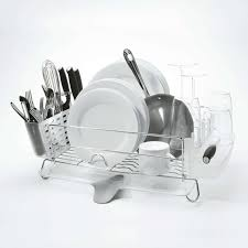 Dish Drainer Folding Stainless Steel Dish Rack Oxo