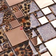 stainless steel tile backsplash ssmt283 kitchen mosaic glass wall