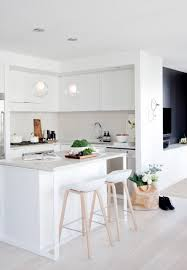 Modern Kitchen Chairs by Black White And Wood Kitchens Countertop And Breakfast Bars