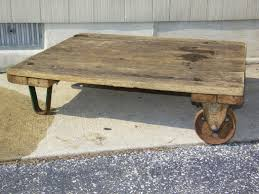 antique factory cart coffee table at 1stdibs dolly