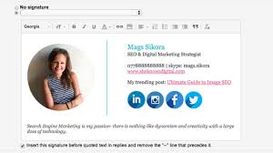 how to create a gmail signature with images social icons u0026 logo