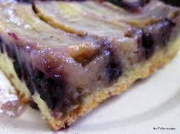 banana blueberry upside down cake