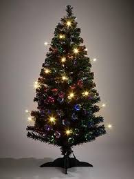 5ft fibre optic tree with led candles