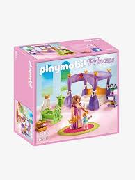 chambre enfant playmobil 6851 chambre de la reine avec lit à baldaquin playmobil multicolore