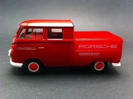 red porsche truck vw t1 pick up porsche red welly selection rs