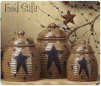 primitive kitchen canisters country farm house cowboy primitive canister set vintage