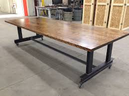 Industrial Boardroom Table Custom Made The Glenn Industrial Conference Table By Iron Age
