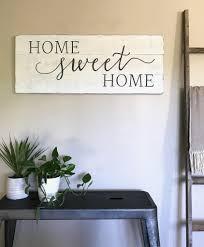 home sweet home sign wood sign living room decor mantel details