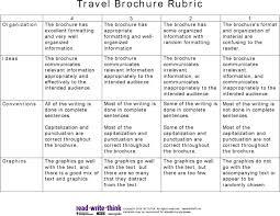 brochure rubric template travel brochure rubric for free tidyform