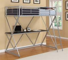 metal bunk bed with desk u2014 all home ideas and decor fascinating