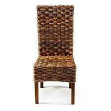 rattan high back dining chair bambeco