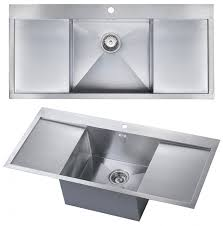 double drainer kitchen sink the 1810 company zenuno deep single bowl kitchen sink with double