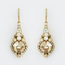 gold drop earrings haute gold vintage drop earrings bridal formal
