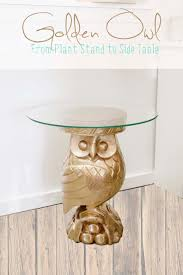 Owl Table L Remodelaholic Repurposed Owl Plant Stand Turned Side Table