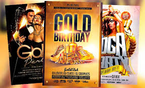 best 20 gold and luxury flyer templates download psd