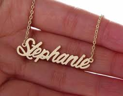 The Name Necklace Gold Necklace With The Name