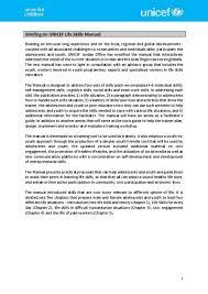 document unicef life skills programme summary arabic and english