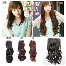 harga hair clip curly hair clip extension 1 layer big layer hair clip murah