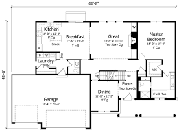 8 2500 sq ft one level 4 bedroom house plans square foot house