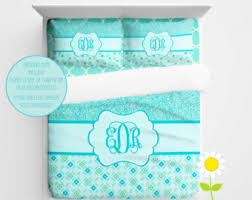 Monogrammed Comforters Monogram Comforter Etsy