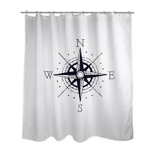Shower Curtain Chemistry Ziya Blue Nautical Compass Shower Curtain U0026 Reviews Wayfair