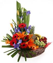 fruit flower basket florist sydney flowers and fruit basket australia