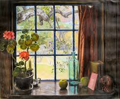 robert strong woodward the apple tree window in october 1948