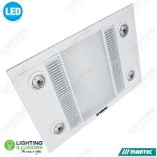 3 In 1 Bathroom Light White Martec Linear Bathroom 3 In 1 High Extraction Exhaust Fan