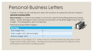 Indented Form Of Business Letter by Learn To Format Personal Business Letters Unit 9 Lessons Ppt Download