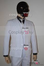 black suit halloween batman arkham origins roman sionis black mask stripe suit cosplay