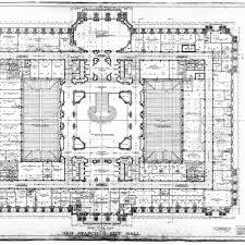 calisphere second floor plan san francisco city hall drawing no 10