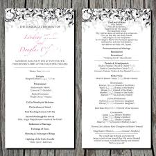simple wedding ceremony program by ayleighdesigns on etsy