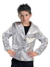Halloween Disco Costumes Costumes Occasions Ff782718 Disco Jacket Silver Child Med